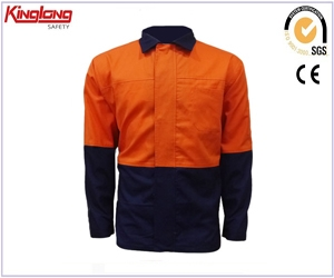 Color combination cotton Shirt Jacket,HIVI working jacket China manufacturer