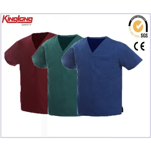 China China Supplier Polycotton Hospital Uniform,Nurse Scrubs for Men and Women factory