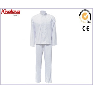 China Elastic back cotton chef coat uniform,China golden supplier chef wear factory