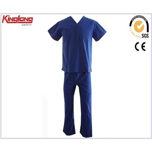 China Navy women mens hospital uniforms professional wear,High quality new design nursing scrubs price factory