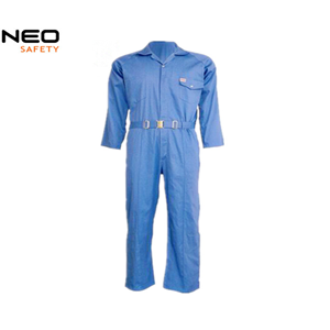 China Royal Blue Long Sleeve Poly Cotton Mens Work Coverall factory