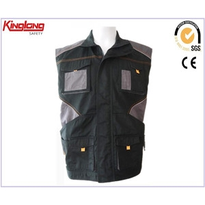 China Safety Work Vest,Twill Mens Safety Work Vest,High Quality 240GSM Twill Mens Safety Work Vest factory