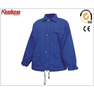 China Winter jacket blue warm working clothing for sale,High quality winter workwear jacket factory