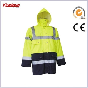 China Winter safety jacket,Winter parka coat,Factory price cheap men reflective clothes high visibility winter safety jacket factory