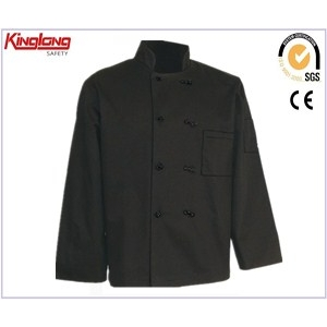 China cotton chef cook uniform wholsale,doubdouble-breasted chef coat direct factory factory