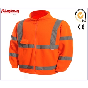 China men safety workwear clothing work jackets fleece jackets with reflective tape factory